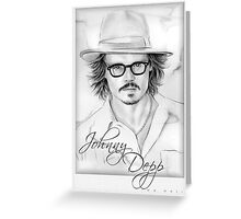 Johnny Depp portrait Greeting Card