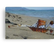 The man and the boat Canvas Print