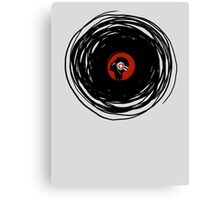 I'm spinning within with a vinyl record... Canvas Print