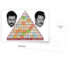 Swanson's Pyramid of Greatness Postcards
