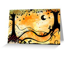 The orange world of bunny McGee Greeting Card