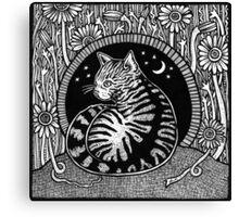 Tabbies Garden Canvas Print