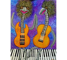 Emu Guitarists Photographic Print