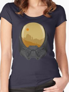 Andromeda Travels - Wasteland Women's Fitted Scoop T-Shirt
