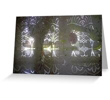 Flower and Curtain Greeting Card