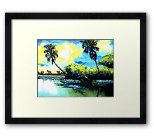 La playa Framed Print