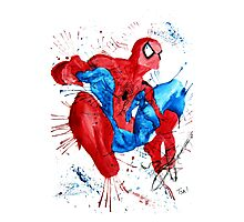 Spider-Man Watercolor Splash Photographic Print