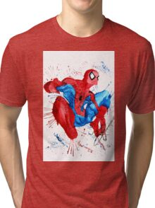 Spider-Man Watercolor Splash Tri-blend T-Shirt