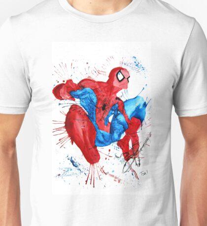 Spider-Man Watercolor Splash Unisex T-Shirt