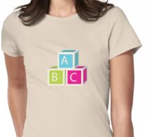 Colorful letter blocks Womens Fitted T-Shirt