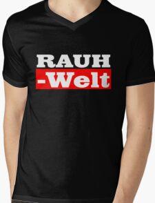 Rauh-Welt Begriff Red Mens V-Neck T-Shirt