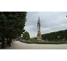 The gardens behind Notre-Dame, Paris Photographic Print