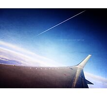 Can we pretend that airplanes in the night sky are like shooting stars Photographic Print