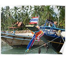 Long Tail Boats Poster