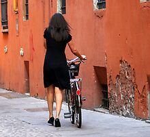 Woman with Bicycle by Segalili