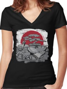 Tools of Destruction Women's Fitted V-Neck T-Shirt