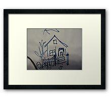 Doodle Home Framed Print