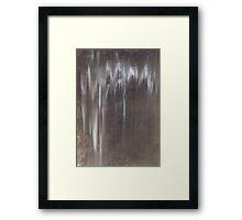 Raw Umber in the Rain Framed Print