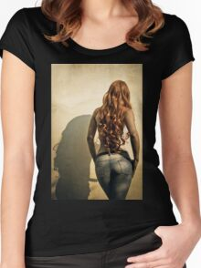 Go get 'em, tiger.  Women's Fitted Scoop T-Shirt