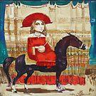 Musician on the black horse by Tigran Akopyan