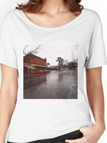 A wet day in Maldon VIC Australia Women's Relaxed Fit T-Shirt