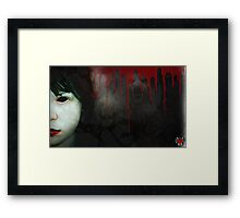 trapped within the nightmare Framed Print