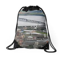 The Tay Rail Bridge Drawstring Bag