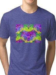 abstract fractal green, purple, blue, red, yellow Tri-blend T-Shirt