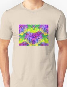 abstract fractal green, purple, blue, red, yellow Unisex T-Shirt