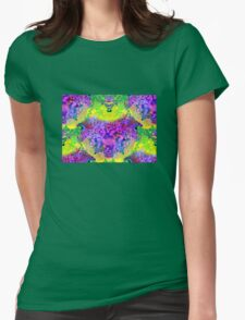 abstract fractal green, purple, blue, red, yellow Womens Fitted T-Shirt