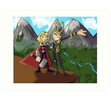 Asgardian Family Vacations Art Print
