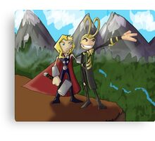 Asgardian Family Vacations Canvas Print