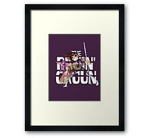 The Ragin' Cajun (Gambit; Purple Background) Framed Print