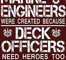 marine engineers were created because deck officers need heros too by imgarry