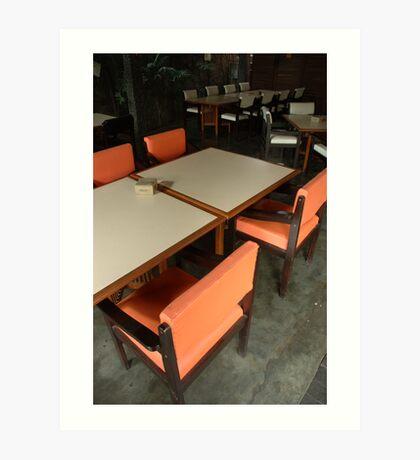 dinning table Art Print