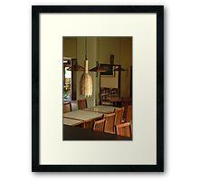 dinning table Framed Print