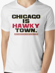 Chicago is Hawkytown Mens V-Neck T-Shirt