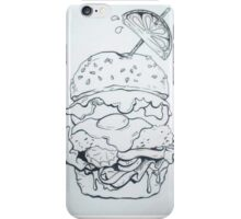 Sweaty Burger  iPhone Case/Skin
