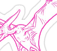 pterodactyl pink Sticker