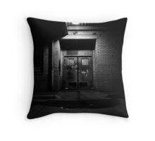 Bus Depot Door Throw Pillow