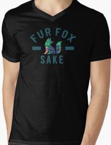 Fur Fox Sake Mens V-Neck T-Shirt