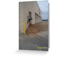 tobias rides a wall Greeting Card