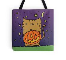 Jack-O-Lantern Kitty Tote Bag