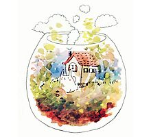 rabbit's terrarium home Photographic Print