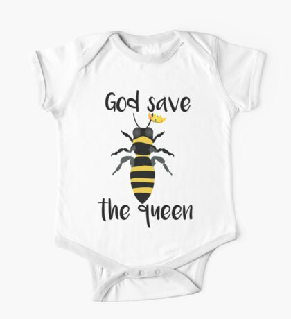 God Save the Queen Bees One Piece - Short Sleeve