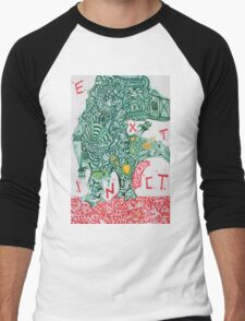 EXTINCT - LARGE FORMAT - VERTICAL Men's Baseball ¾ T-Shirt