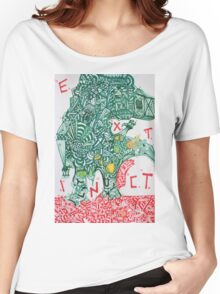 EXTINCT - LARGE FORMAT - VERTICAL Women's Relaxed Fit T-Shirt