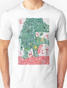EXTINCT - LARGE FORMAT - VERTICAL Unisex T-Shirt