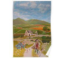 Rosie McCann Mourne Mountains scene Poster