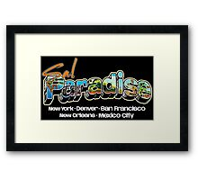 Postcard from On The Road! Framed Print
